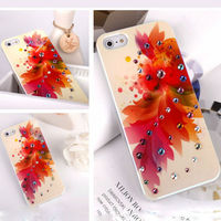 water proof colorful gift box crystal covered Bling case with 3-D diamond for iphone 5 case cover