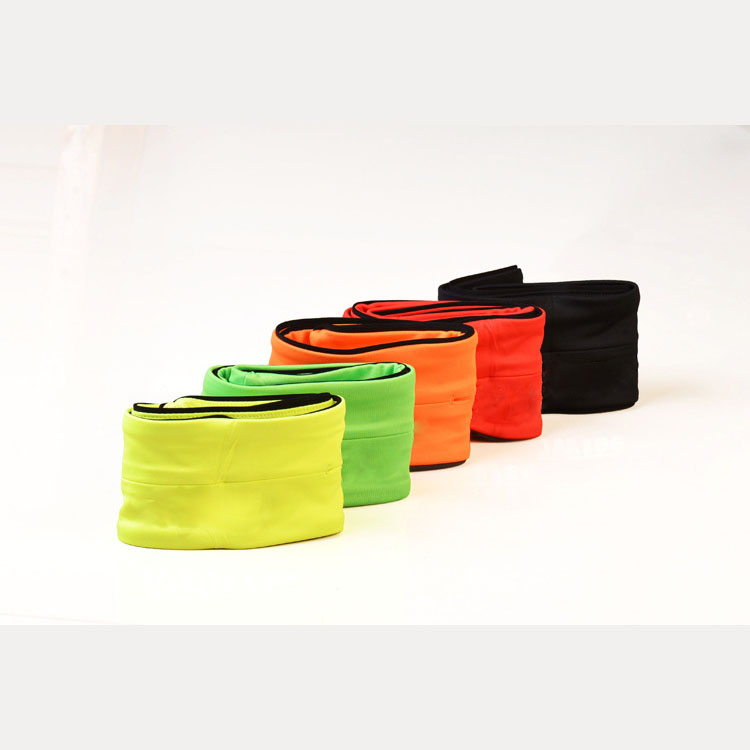 Promotional durable sport elastic expandable waist bag / waist pack / waist pouch running flip belt