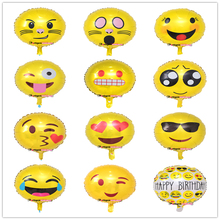 18inch Emoji expression foil balloon for congratulation decoration/ anniversary festive/graduation bouguet gift/Engagement