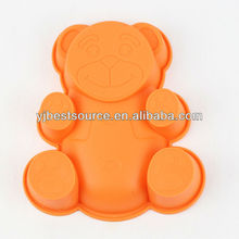 Free Shipping Lovely Bear Shape Cake Baking Mold Silicone Cake Decoration Soap Ice Jelly Pudding Making Cake Tools Hot Sale