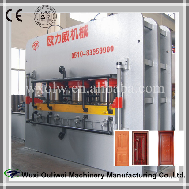 wood mould door laminating pressing machine/door skin heat/heating pressing