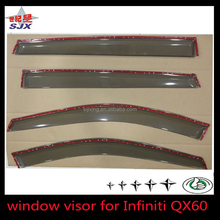 high quality wind deflector/ sun shield/ window visor for INFINITI qx60