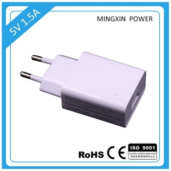 2017 New Arrival 5v 1500ma usb charger adapter