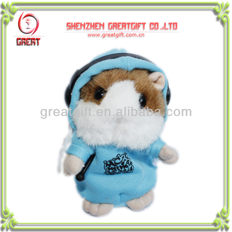 Hot Selling Voice Record/ Repeat Hamster Plush Toy Talking Hamster NEW!