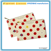 dot print clutch pouch travel canvas makeup bag