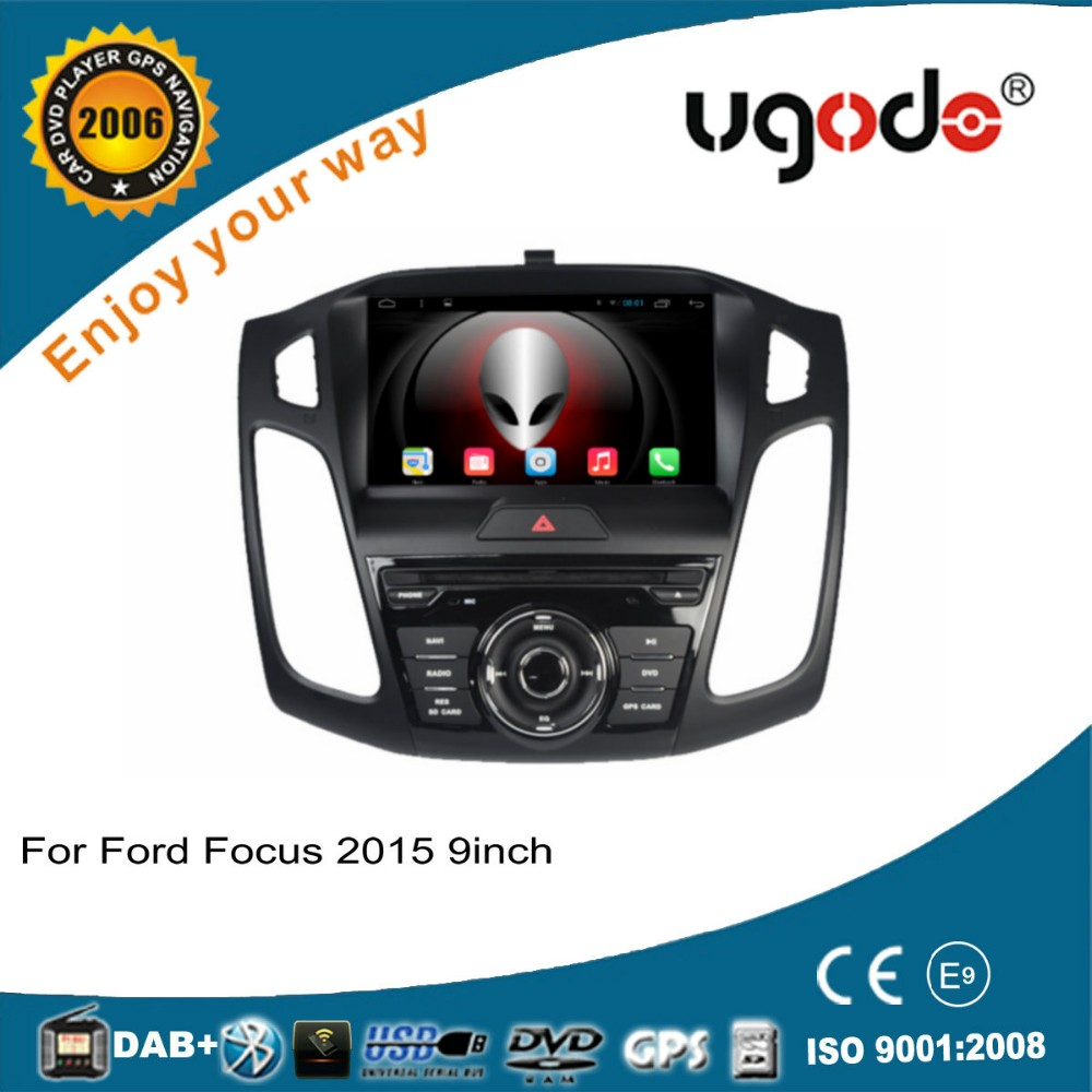 ugode 9 inch 1din android 4.4 quad core car multimedia system for Ford Focus 2015 car dvd