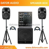 1000Watt 18 inch Sub & 2*12 inch 2-Way Three Piece Pro Audio Powered Speaker System