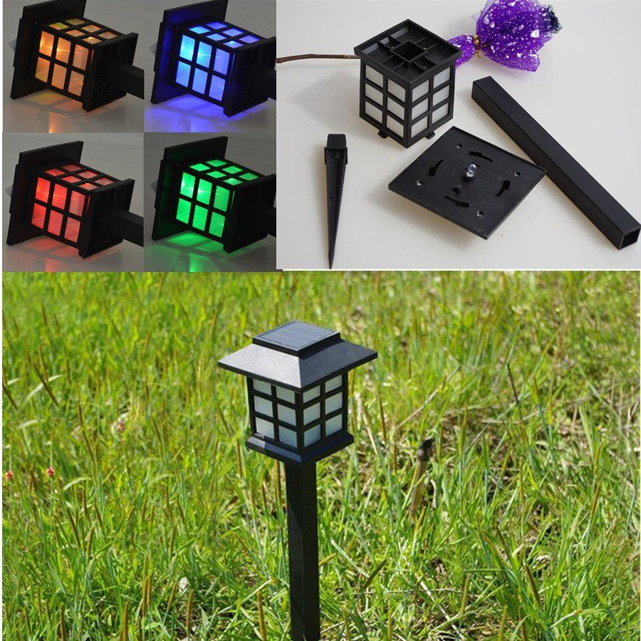 2016 new hot Solar Power Torch Pattern LED Garden Outdoor View Path Lamp Yard Lawn Light