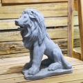 Garden decor handmade marble sitting lion Sculpture Statue