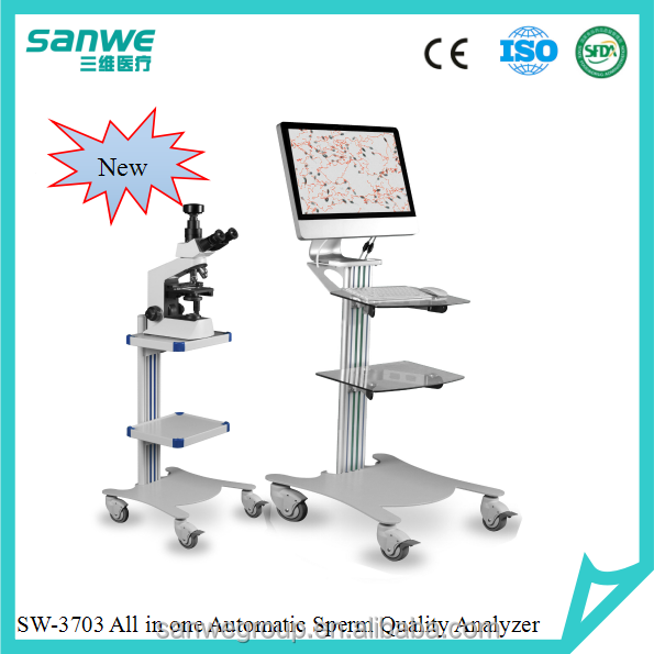 SANWE 3703 Automatic Semen Analyzer, Computer All in One Unit, CASA with semen Counting Slid