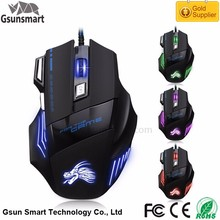 Hot Sale Big Hand Ergonomic Design Drivers USB 7D Gaming Mouse with Adjustable CPI for Gaming