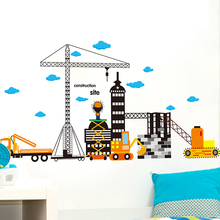 Construction site Height Increases Measurement Sticker Removable Diy Vinyl Quote Wall Sticker Poster Home decoration