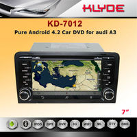 "With Can Bus Gps Navigation System 7"" Android Tablet Double Din Car DVD Player For A3"