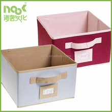 shoe and toy fabric storage box with mark label on front