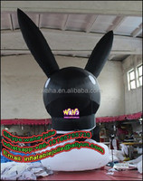 Outdoor advertising giant inflatable RABBIT 6M tall