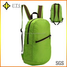 2015 durable plain color backpack foldable for school&hiking&sport