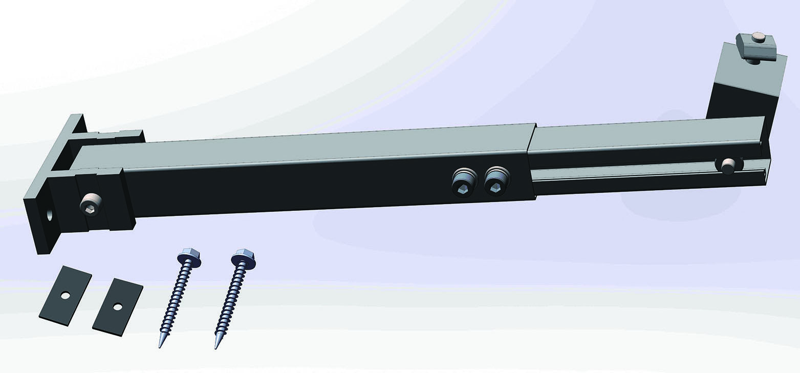 Solar panel system flat roof bracket adjustable/fixed system