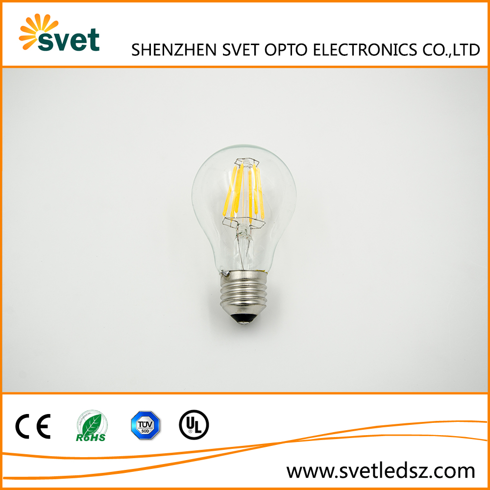 LED Filament Style Golfball Bulbs E27 4W 6W 8W Clear Energy Saving LED Lamps