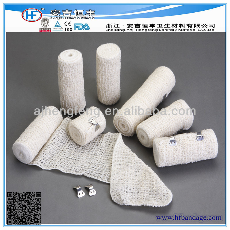 Single Packed/ Medical Natural Spendex And Cotton Crepe Elastic Bandage Manufacturer