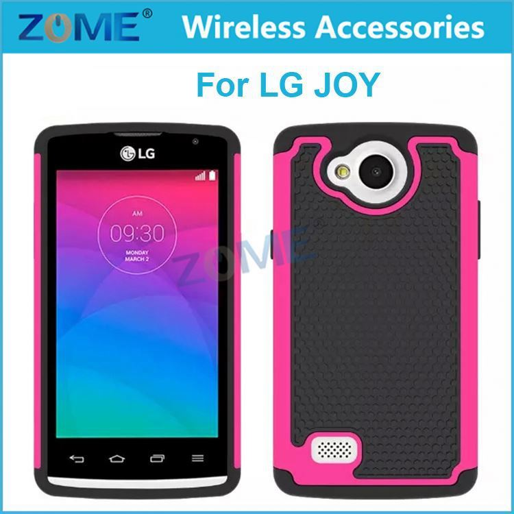 Cell Phone Accessory Fancy Mobile Phone Hybrid Combo Protector Tpu+Pc Case/Cover For Lg Joy H220