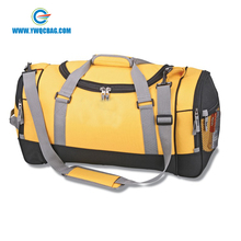 Custom ripstop waterproof gym sports travel duffel bag with shoe compartment
