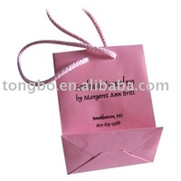 Custom printed fashion pink paper shopping bag