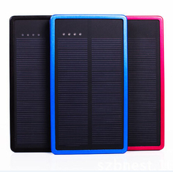 2016 CHINA market solar batteries rechargeable 10000MaH high power dual power supply