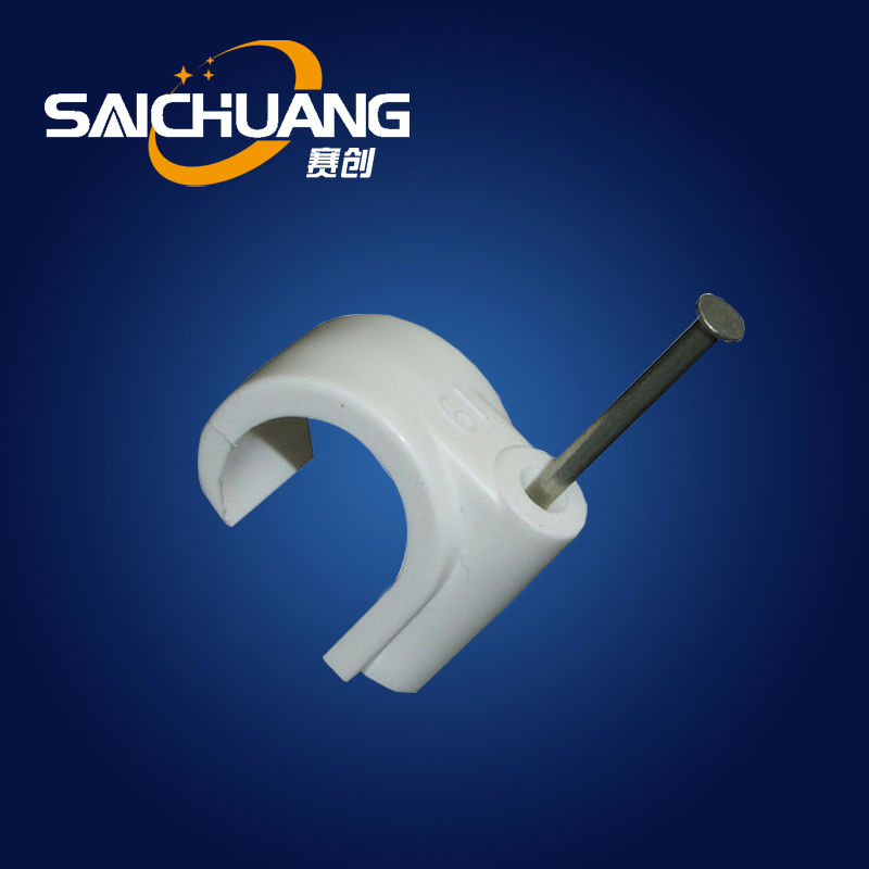Plastic c type plastic cable clip wire clamp