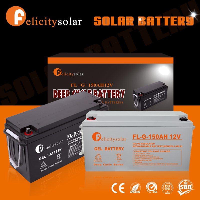 High power 12v 150ah solar power storage battery solar battery for home