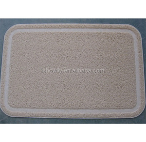 Stone color Pet litter mat for cats the litter catcher China wholesale pet accessories
