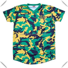 High quakity all over body camo sublimation printing Brazil Camo Soccer sports Jersey shirts hot sale with cheap price