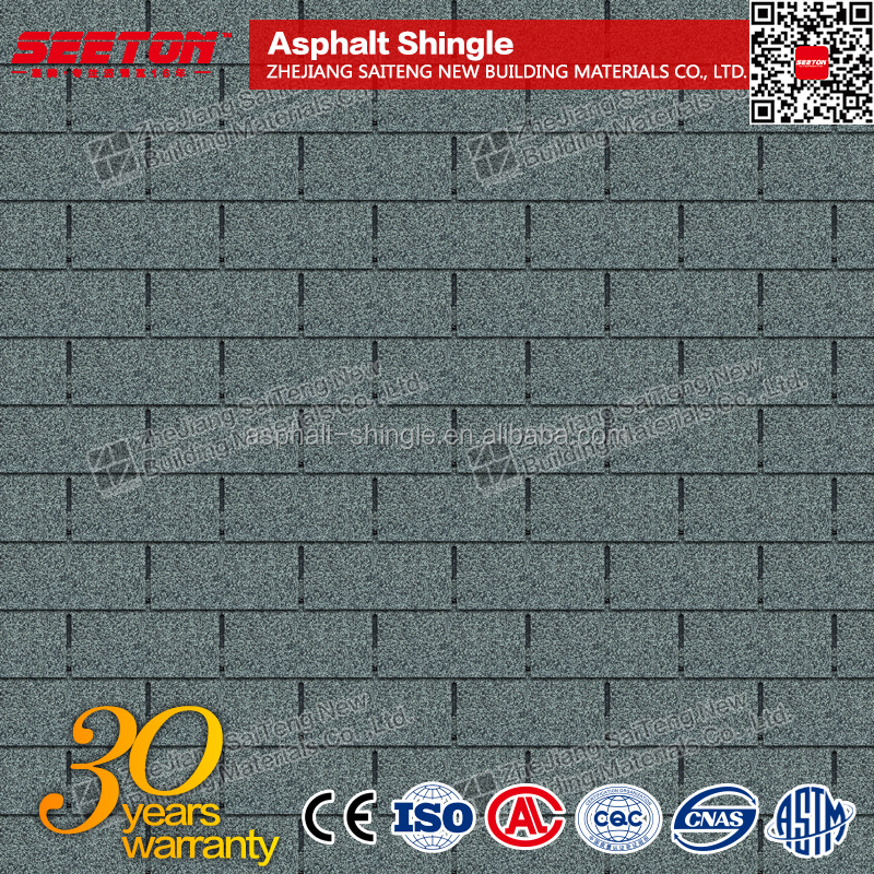 Colorful Bitumen Roofing Shingles , 3-tab Roofing Shingles Price