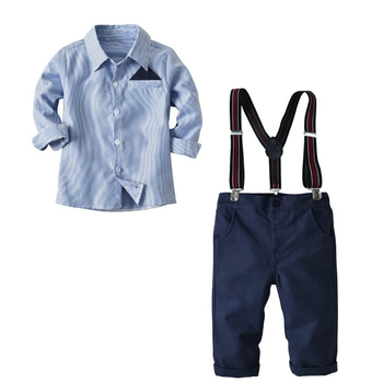 Hot Selling Children's Overalls Kids Suspender Suits T-shirt+ Bib Pants Overalls Outfit Children Clothes 2pcs Baby Boy Set