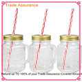 Red and white stripe Reusable Plastic Thick Drinking Straws For Wedding Birthday Party