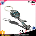 Halloween souvenir gifts metal cool skull key bottle opener with keyring