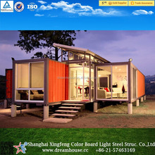 prefabricated steel frame house villa/steel container villa