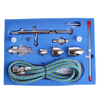 New Fashion Dual-action Airbrush Kit Spray Gun for Nail Paint Art Drawing Body Paint Makeup AS-14