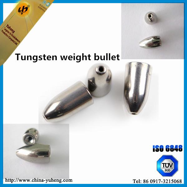 Hot sale tungsten weight bullet tungsten fishing sinkers for Fishing sinkers bulk