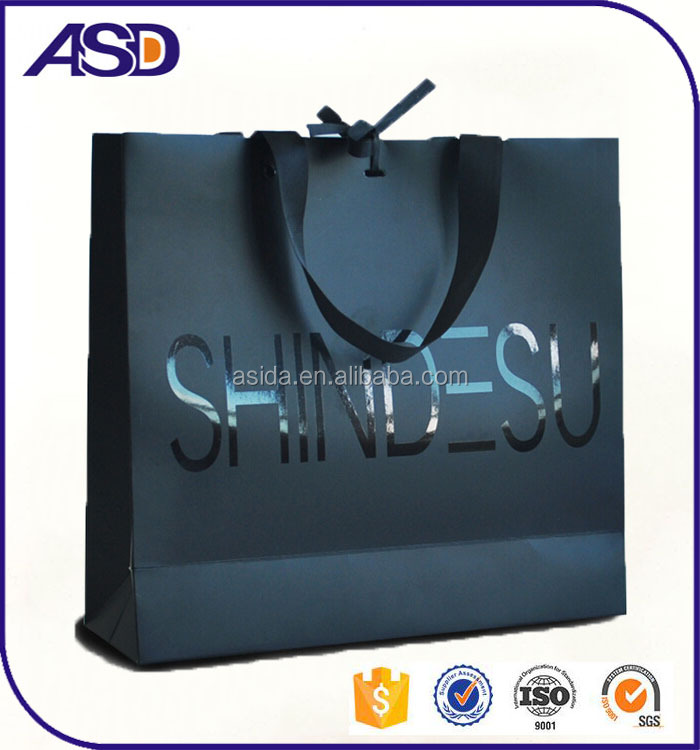 High Quality Paper shopping bag & Shopping paper bags customized logo printing
