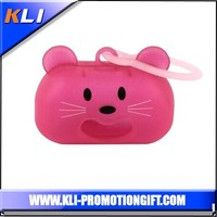 Hello kitty shaped dog poop bag pet trash bag dispenser