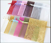 Wholesale different size personalized organza bag for gift