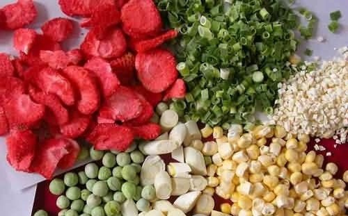 freeze drying vegetables