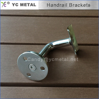 Round Pipe Wall Mounted Stainless Steel Handrail Brackets