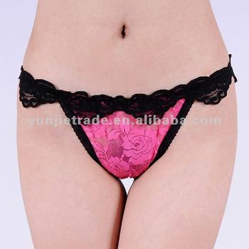 open sexy girl lace thong newest ladies G-string hot sexi women lingerie wholesale