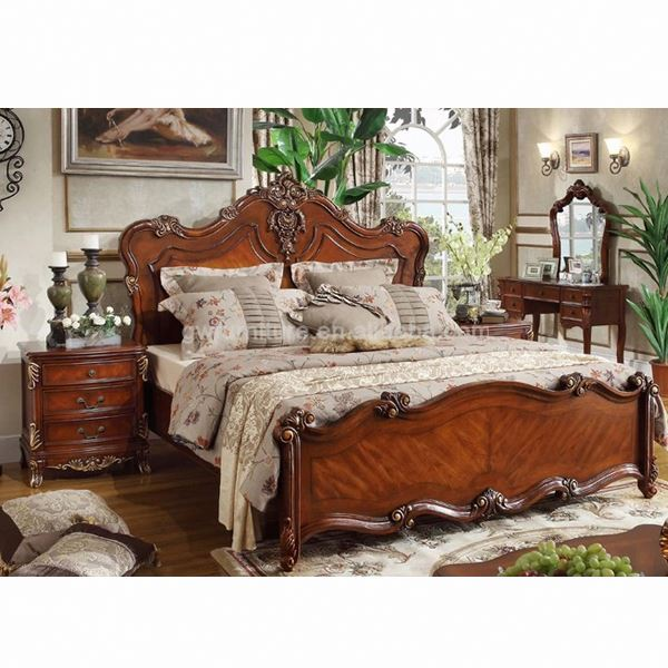 solid wood sleigh bedroom set