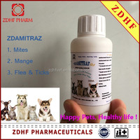 pets Lice and mite liniment Amitraz solution 12.5% EC for dogs cats mange