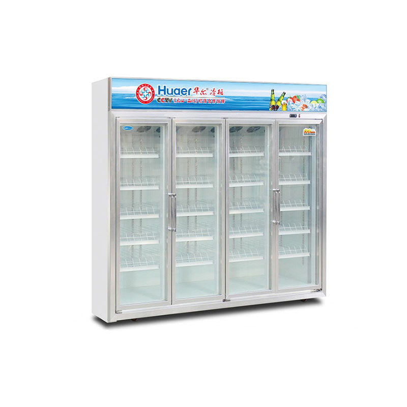 2460L showcase four glass door fridge compressor <strong>refrigerator</strong>