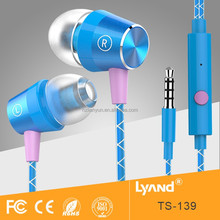 High quality popular braided cable earphone for phone
