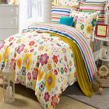 Emily flower coming home bedding article custom print bedding 100% cotton