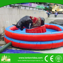Support Customized Exciting Kiddie Ride Mechanical Rodeo Bull For Sale